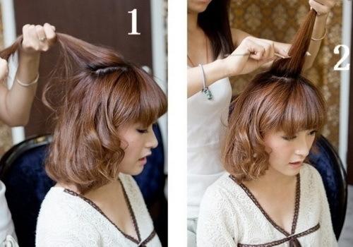 Đánh rối phần tóc trên đỉnh đầu