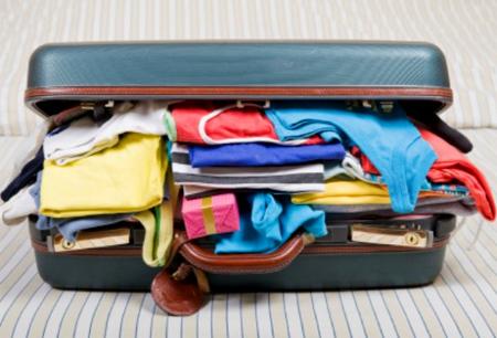 Sẵn sàng hành lý cho tuần trăng mật