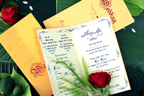 Thiệp cưới truyền thống trang nhã, đẹp mắt
