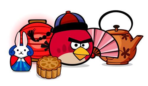 """Angry Birds với chủ đề """"Trung Thu""""."""