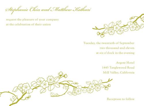 Thiệp mời đẹp cho đám cưới mùa xuân