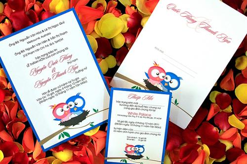 Thiệp cưới đẹp giảm giá nhân Valentine