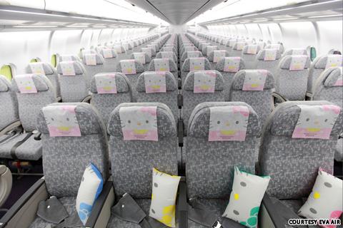 Những chiếc máy bay Hello Kitty tại Đài Bắc, mang tên Apple Jet, Global Jet và Magic Jet, sẽ phục các hành khách trong ít nhất một năm trên nhiều tuyến bay khác nhau từ Đài Bắc. Nếu như Magic Jet mang thông điệp của tình yêu và tình bạn, thì Global Jet sẽ đưa thế giới đến gần nhau hơn, trong khi Apple Jet tượng trưng cho tình yêu đối với những trái táo của mèo Kitty.