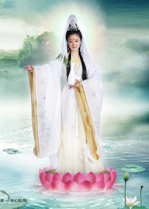 Tạo hình của Lâm Tâm Như gần gũi với tưởng tượng truyền thống của khán giả về nhân vật Quan Âm Bồ Tát.