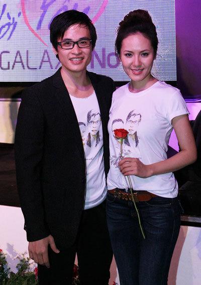 Hà Anh Tuấn và Phương Linh tham gia chương trình ca nhạc giao lưu Nói lời yêu theo ngôn ngữ Galaxy Note tại Vincom để vui Valentine cùng các giới trẻ TP HCM.