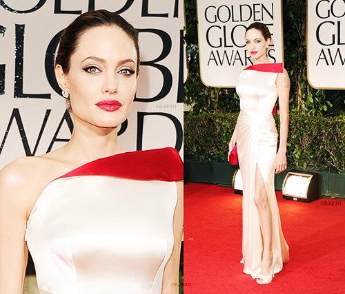 Chiếc váy giúp bà Smith - Angelina Jolie nổi bật trong lễ trao giải Quả cầu vàng