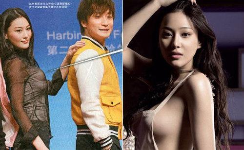 """Với """"hai bộ ngực"""", nữ diễn viên Hong Kong xuất hiện trên sân khấu."""