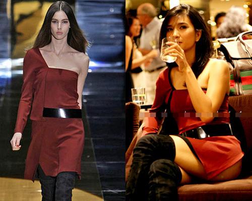 Váy quá ngắn hay có đường xẻ táo bạo khiến Kim Tuyến lộ vòng ba ngay cả khi ngồi.