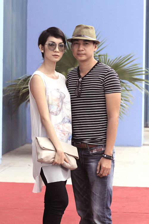 Giám khảo Vietnam's Next Top Model 2011 Xuân Lan và diễn viên Ngọc Thuận.