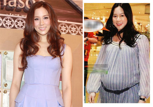 Trước khi có bầu, Từ Tử Kỳ chỉ nặng gần 50, nhưng khi mang thai, cô lên tới 78 kg. Hiện tại, người đẹp đã giảm đi khoảng 20 kg và lấy lại vóc dáng thon thả.