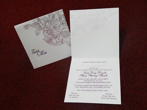 Lưu ý khi đặt in và viết thiệp cưới