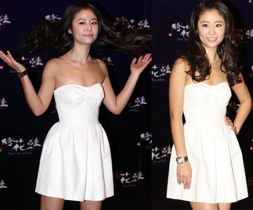 """Lâm Tâm Như tham dự buổi họp báo ra mắt phim mới """"Giày thêu"""" tại Bắc Kinh."""