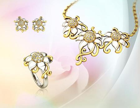 Giá thuê bộ trang sức từ 700.000 đồng đến 3,5 triệu đồng/lần. Ảnh: SBJ.