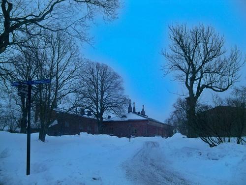 Buổi chiều mùa đông trên đảo Suomenlinna-nơi được UNESCO công nhận là di sản thế giới năm 1991.