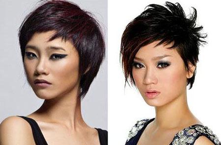 Hai cô gái cùng tên Trà My với hai cách make-up khác biệt. Từ trái sang: Trà My - Á quân Việt Nam next top model và Trà My - Ca sĩ