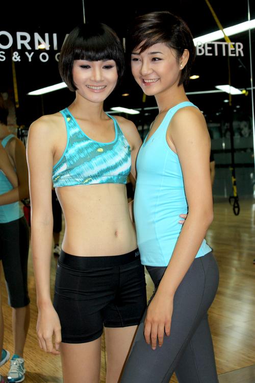 Trà My hội ngộ top 4 Thùy Trang tại buổi ra mắt môn thể hình mới tại TP HCM.