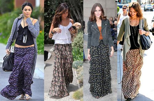 Những chiếc váy maxi rất 'được lòng' các mỹ nhân Hollywood.