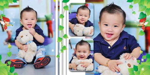 Bé Ngô Đức Phát, biệt danh 'anh chàng đẹp trai, 9 tháng ruổi. Bé chụp hình lúc 7,5 tháng tuổi, bé rất nghịch hay đòi đi chơi.