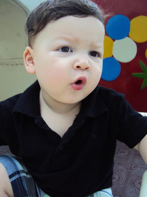 Bé Danny Nguyễn Batca, 1 tuổi rưỡi.