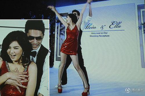 Trong một màn biểu diễn trên sân khấu, nữ ca sĩ đã cùng chồng thể hiện những động tác bốc lửa trên nền nhạc Single Lady của Beyonce Knowles.