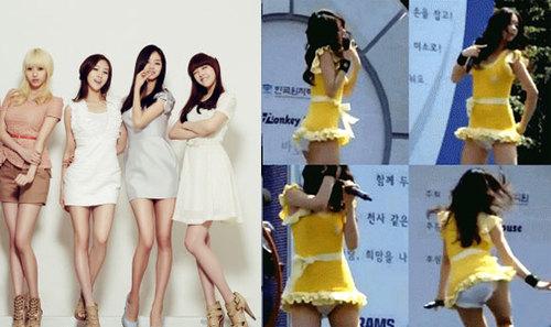 Các thành viên của Girls Day đã khiến các khán giả phải mắt tròn mắt dẹt khi lên sân khấu biểu diễn với thời trang quần bỉm: quần lót màu trắng, váy ngắn vàng ngắn cũn cỡn. Sở dĩ khán giả đặt cho mốt các cô diện là thời trang quần bỉm vì chiếc quần nhỏ xíu trông như chiếc bỉm các em bé thường mặc. Sau buổi biểu diễn của Girls Day, rất nhiều người đã lên tiếng về sự hồn nhiên quá đà của các cô gái khi chọn váy áo.
