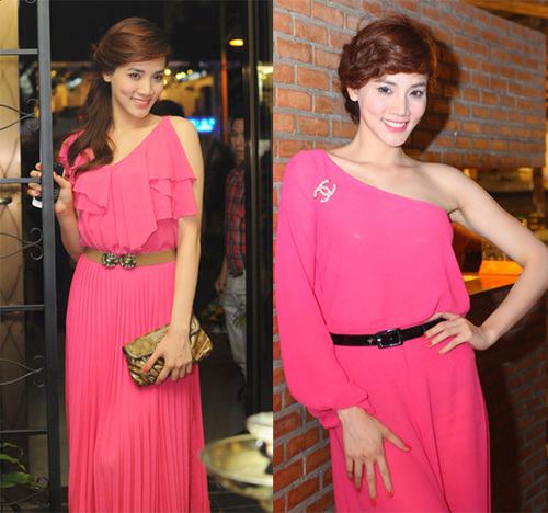 Siêu mẫu Trang Nhung gợi cảm và cuốn hút trong những bộ trang phục màu hồng rực.
