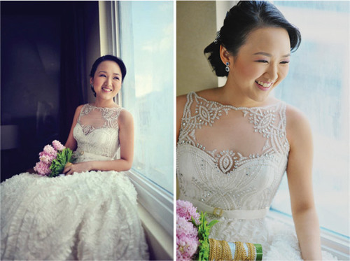 Váy cưới, làm tóc và trang điểm là ba vấn đề cô dâu quan tâm nhất trong ngày cưới.