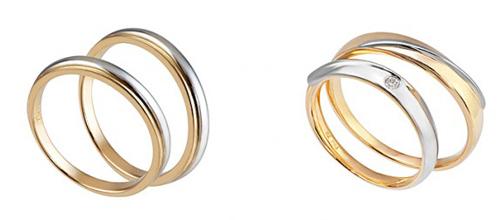 Phá cách với nhẫn cưới pha màu