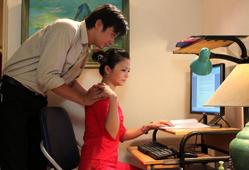 Công Dũng và Kiều Anh lần đầu hợp tác nhưng đã kết hợp rất ăn ý trong suốt thời gian đóng phim.