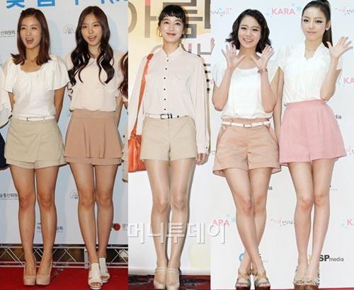 Những chiếc quần váy cũng rất được các mỹ nhân Hàn yêu thích. Kiểu quần này sẽ làm vòng mông của bạn trở nên căng tròn hơn.