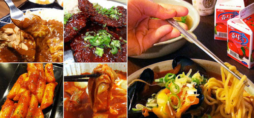 Món ăn Hàn có màu sắc và hương vị hấp dẫn.