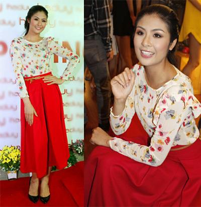 Hoa hậu Việt Nam 2010 - Ngọc Hân ngày càng biết cách chưng diêj.