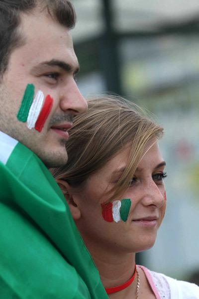 Đôi bạn trẻ là fan của Italy.