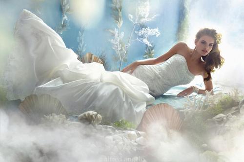 Các bạn yêu thích Nàng tiên cá Ariel trong The Little Mermaid hãy vào chiêm ngưỡng bộ áo cưới xinh đẹp này. Bộ váy cưới xinh đẹp này được lấy cảm hứng từ vẻ đẹp của biển cả và vỏ sò