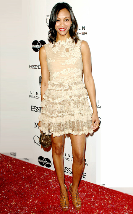 Valentino dress and Louboutin heel at the 3rd Annua Essence Black Women