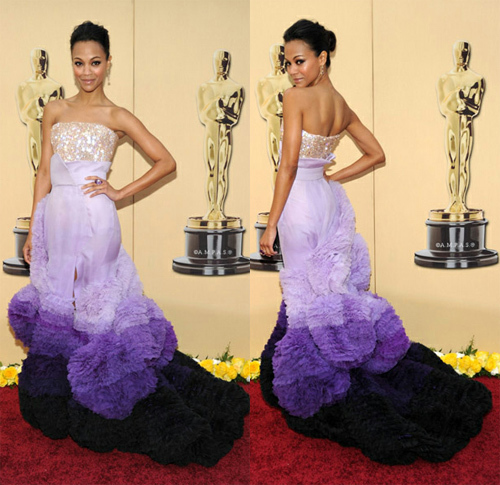 Givenchy Couture dress for the Academy Awards looking