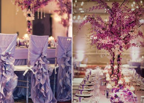 Hoa ở bàn tiệc được thiết kế với hình dáng cao, tán xòe rộng để tăng vẻ lộng lẫy, hoành tráng của tiệc.