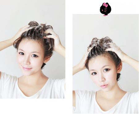 Khi đã xoa đều dầu lên tóc, bạn dùng các đầu ngón tay massage nhẹ nhàng da đầu trong khoảng 5-7 phút.