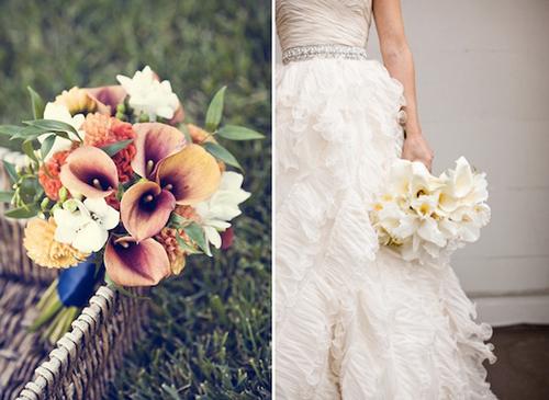 Với cách kết hợp khác nhau, các cô dâu sẽ có những bó hoa theo nhiều phong cách khác nhau, có thể sang trọng, cũng có thể ngẫu hứng, phá cách.