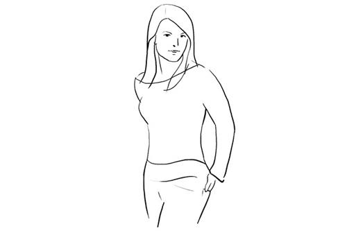 Chỉ cần đứng nghiên người về một phía và cho tay vào túi quần phía sau, bạn đã tạo cho mình một dáng pose cực kỳ thanh lịch và duyên dáng.