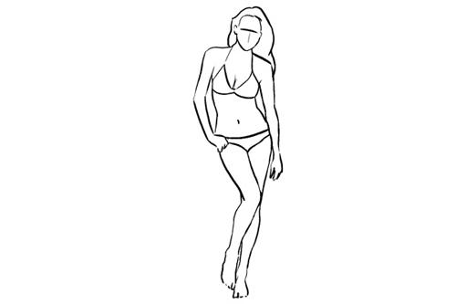 Cách tạo dáng này cực kỳ hiệu quả khi bạn mặc những bộ đồ gợi cảm. Chỉ cần để trọng tâm vào một chân, người nghiêng hình chữ S và tay để thả lỏng.