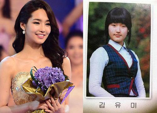 Đăng quang Hoa hậu Hàn Quốc hôm đầu tháng 7 vừa rồi, Kim Yu Mi vấp phải sự chỉ trích và thất vọng của dư luận sau khi loạt hình thời đi học của cô được hé lộ. Nhiều người còn nhận ra Yi Mi giống nữ diễn viên Park Min Young đến cả ánh mắt, bờ môi,
