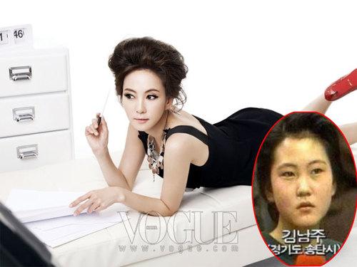 """Nhắc tới những sản phẩm thành công của công nghệ thẩm mỹ, không thể bỏ qua trường hợp của """"Nữ hoàng quảng cáo"""" những năm thập niên 90 Kim Nam Joo. Được thành công như ngày hôm nay, có lẽ diễn viên nổi tiếng mỗi ngày đều thầm cảm ơn... các bác sĩ phẫu thuật, bởi với dung mạo mới cùng tài năng thiên bẩm, cô hoàn toàn chinh phục khán giả."""
