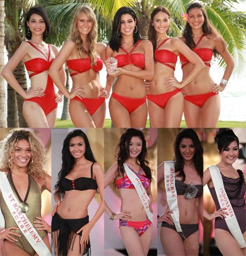 Cuộc thi hoa hậu thế giới hàng năm đón nhận các hoa hậu, Á hâu từ nhiều đất nước khác nhau và áo tắm là một trong những phần thi không thể thiếu.