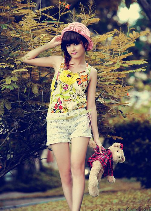 Nguyễn Thị Lượm - cô gái có gương mặt xinh như búp bê lọt vào top 23.