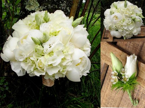 Đám cưới xanh trắng cho cô dâu cổ điển
