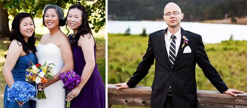 Đám cưới với đủ sắc màu cầu vồng