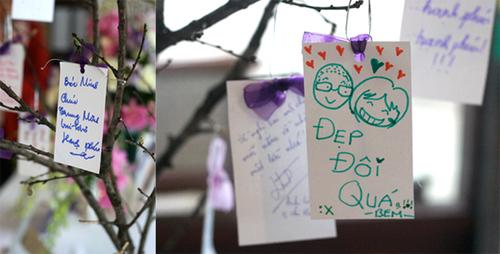 Những tấm thiệp ghi lời chúc của khách mời sẽ là kỷ niệm khó quên với cô dâu chú rể. Ảnh: Redvelvet.