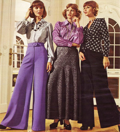 Quần cạp cao suông rộng từng hút hồn nhiều phụ nữ thập kỷ 70.