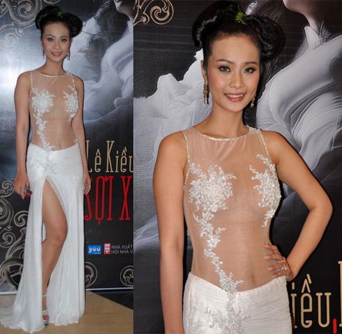 Người đẹp Lê Kiều Như không ngại khoe trọn thân hình trong một thiết kế 'táo bạo'.